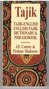 Tajik-English. English-Tajik Dictionary & Phrasebook.
