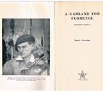 A Garland for Florence. Pentagon Poets 1. Association copy Maxwell Armfield and Geoffrey Whitworth.