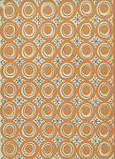 Modern - Swiss Circles in brown greeting card