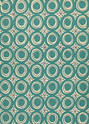 Modern - Swiss circles in teal  greeting card