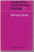 Element Order. (signed Association copy)