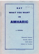Say What you want in Amharic.
