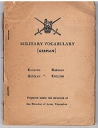Military Vocabulary (German). English - German, German - English.