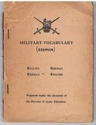 Military Vocabulary (German). English - German, German - English.
