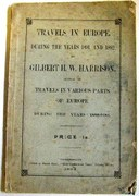 Travels in Europe during the Years 1891 and 1892: (By the) author of