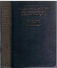 PALMER, Harold E., MARTIN, J. Victor, BLANDFORD, F. G. (Daniel Jones)