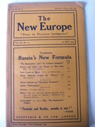 The New Europe.  Russia's New Formula. (Journal)