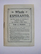 The Whole of Esperanto. The words of Esperanto and the means of learning