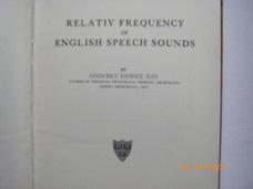 Relativ Frequency of English Speech Sounds