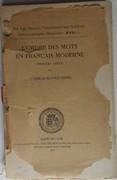 L'ordre des mots en français moderne. Première partie. Historisk-filologiske Meddelelser XVII, 1.