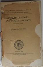 L'ordre des mots en français moderne. Première partie.