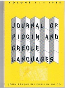 Journal of Pidgin and Creole Languages. Volume 1: 1: 1986