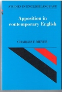 Apposition in Contemporary English. Studies in English Language.