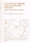Hedgerow Shrubs and Landscape History: Some Shropshire Examples Reprinted from Field Studies.