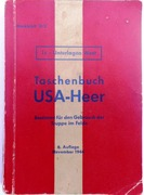 Taschenbuch USA-Heer  (German handbook to the United States military forces) Merkblatt 31/2.  1c - Unterlagen West