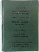 Malay - English and English - Malay Dictionary.  (Malaysian). Kamus Melayu - Inggeris  Inggeris - Melayu.