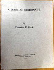 BLEEK, Dorothea F.. (Ed. Zellig S. Harris)