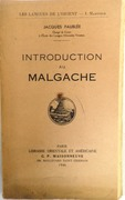 Introduction au Malgache (Introduction to Malagasy). Les Langues de l'orient.