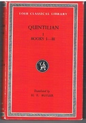 Institutiones Oratoriae Quintilian I.  Books I - III. Loeb Classical