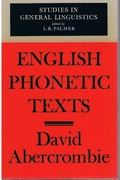 English Phonetic Texts. Studies in General Linguistics edited by L. R. Palmer.
