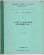 On the Telefol language.  Papers in New Guinea Linguistics.  No 3. Linguistic Circle of Canberra Publications. Pacific Linguistics Eds. S A Wurm et al. Series A - Occasional Papers No 5.