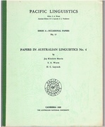 [Gunbalang and Lamalamic] Papers in Australian Linguistics No 4. Pacific Linguistics. Eds. S A Wurm et al.  Series A - No 17.