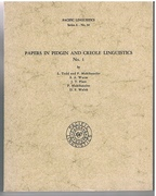 [Samoan Plantation Pidgin, Tok Pisin,  New Guinea Pidgin, East Austronesian, Cameroon Pidgin]. Papers in Pidgin and Creole Linguistics No 1.  Pacific Linguistics. Series A - No 54.