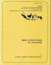 Role Structure in Javanese.