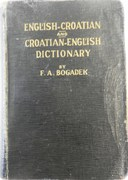 New English-Croatian and Croatian-English Dictionary.  With an Appendix.