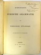 Kurzgefasste syrische Grammatik Mit einer Schrifttafel von Julius Euting.