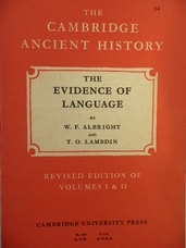 The Evidence of Language. Volume I, Chapter IV. Revised Edition of Volumes