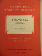 Anatolia c. 1600-1380 B.C. Volume II, Chapter XV(a) Revised Edition of Volumes I & II. The Cambridge Ancient History.