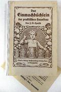 Das Einmachbüchlein der praktischen Hausfrau Sechste Auflage