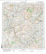 Llandrindod Wells, Hay-on-Wye, Kington (map in Russian) Generalni Shtab. 1:100 000 (Hereford and Worcester, Powys area)  Soviet Military Map