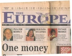 The European (Newspaper) No 0001 Weekend May 11 - 13, 1990