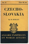 Czechoslovakia. Oxford Pamphlets on World Affairs. No. 15.