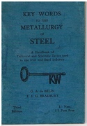 Key Words To The Metallurgy Of Steel. Third edition.
