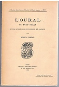 L'Oural au XVIIIe siècle. Étude d'histoire économique et sociale. [The Urals in the XVIII Century. Text in French].