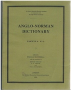 Anglo - Norman Dictionary. Fascicle 6: R-S