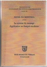 La syntaxe du message Application au français moderne.