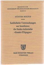 Lexikalische Untersuchungen zur Interferenzdie franko-italienische
