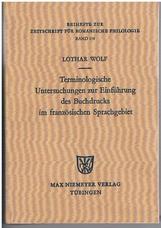 Terminologische Untersuchungen zur Einführung des Buchdrucks im
