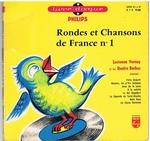 Rondes et Chansons de France no. 1 Livres disque Philips
