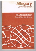 Allegory. The Critical Idiom. General Editor: John D. Jump.