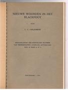 Nieuwe Woorden in het Blackfoot. Siksika. Mededeelingen  der Koninklijke Akademie van Wetenschappen te Amsterdam Afdeeling Letterkunde.