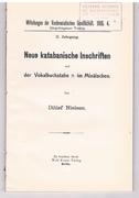 Neue katabanische Inschriften und der Vokalbuchstabe - im Minäischen. Mitteilungen der Vorderasiatischen Gesellschaft,.