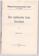 Der sabäische Gott Ilmukah Mitteilungen der Vorderasiatischen Gesellschaft,.
