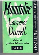 Mountolive. A novel. Faber Paper Covered Editions.