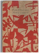 Poems (Two) 1925. Edition limited to 150 copies, number 59, signed by author. Cover Design by Elliott Seabrooke. Association copy: 'Marevna' and Marika Rivera