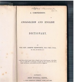 A Compendious Anglo-Saxon and English Dictionary.